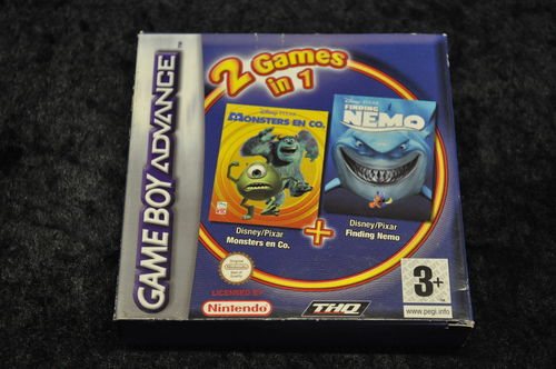 Gameboy Advance 2 In 1 Games Monster en Co , Nemo