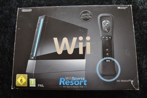 Nintendo Wii resort pack zwart limited edition boxed