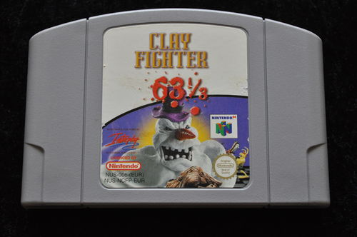 Clay Fighter 1/3 Nintendo 64 Game