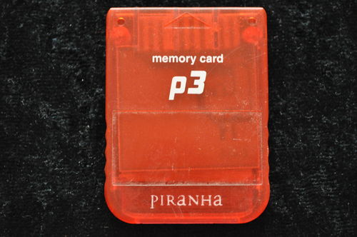 Memory Card Piranha P3 15 Blocks Rood Playstation