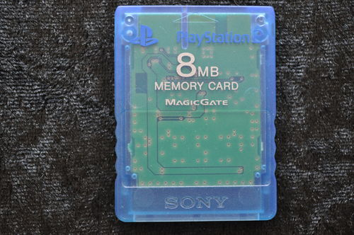 Sony Playstation 2 PS2 Memorycard Origineel 8MB Blauw transparant