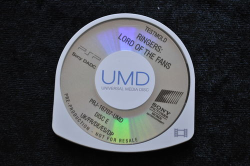 Ringers Lord Of The Fans UMD TESTMOLD Sony PSP