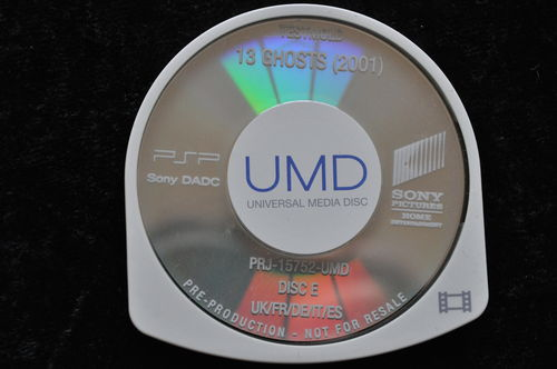 13 Ghosts 2001 UMD TESTMOLD Sony PSP