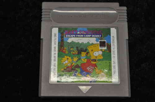 Gameboy classic Bart simsoms escape from camp deadly