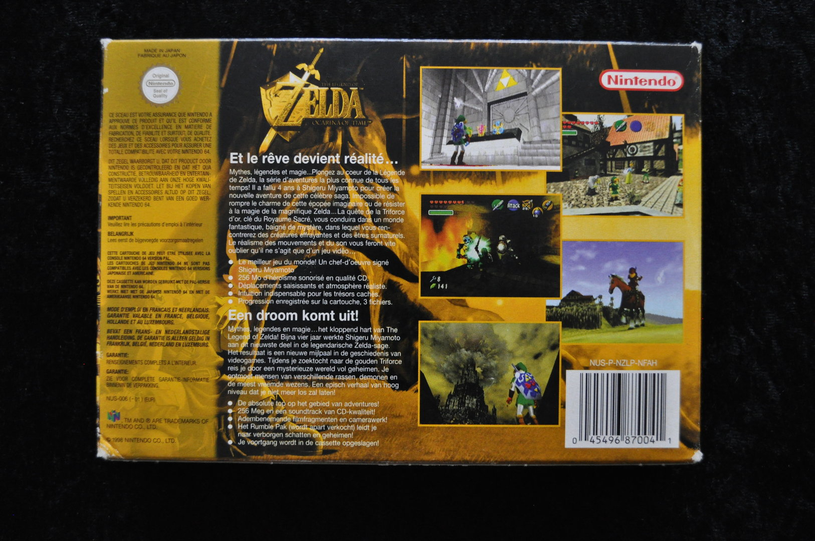 The Legend Of Zelda ocarina of time Nintendo 64 Boxed PAL