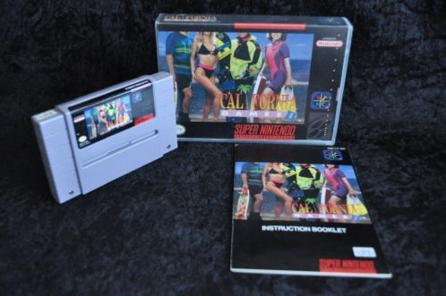 Nintendo SNES California games 2 Hard cover NTSC