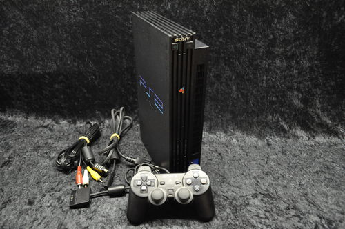 Sony Playstation 2 PS2 Console Phat Zwart