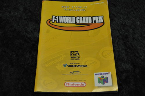 Nintendo 64 (N64) F-1 World Grand Prix Manual