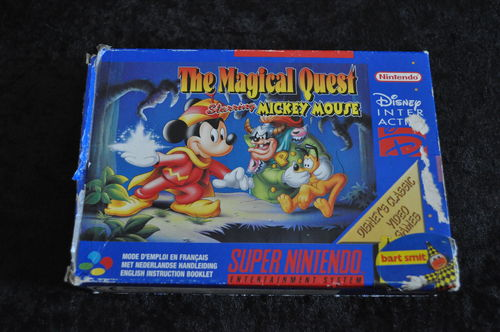 Nintendo SNES The Magical Quest Starring Mickey Mouse Boxed