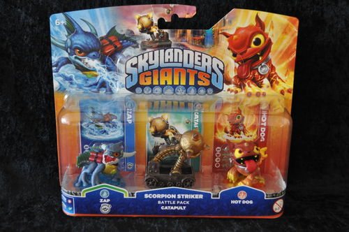 Skylanders Giants: Battle Pack Zap, Scorpion Striker Catapult, Hot Dog Battle Pack 2