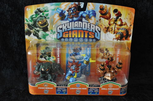Skylanders-Giants-3-pack--prism-break-lightning-rod-drill-sergeant Boxed