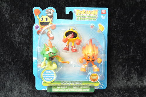 Pac Spinners Pac-Man and the Ghostly Adventures - Pac,Fire Pac,& Chamekon Pac