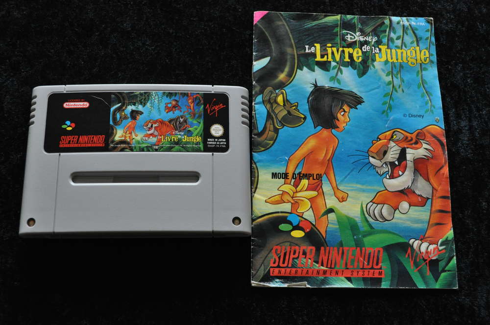 Disney Le Livre De La Jungle Included Manual Nintendo Snes