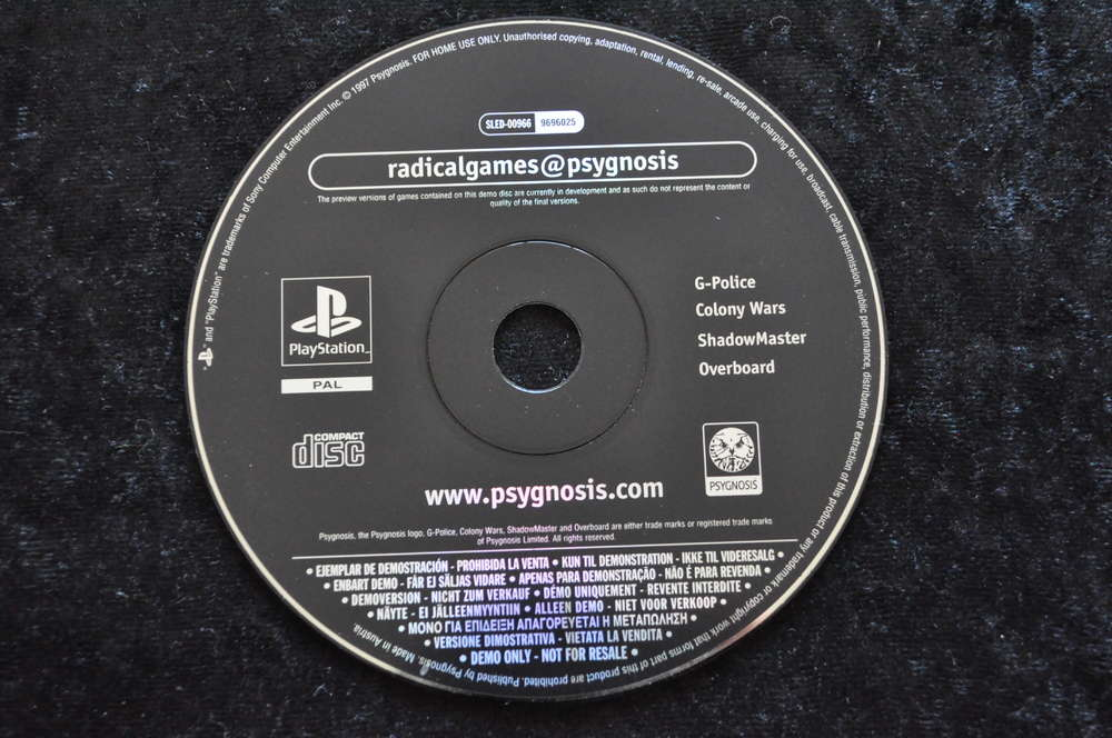 Radicalgames Psygnosis Demo Disc Playstation 1 PS1