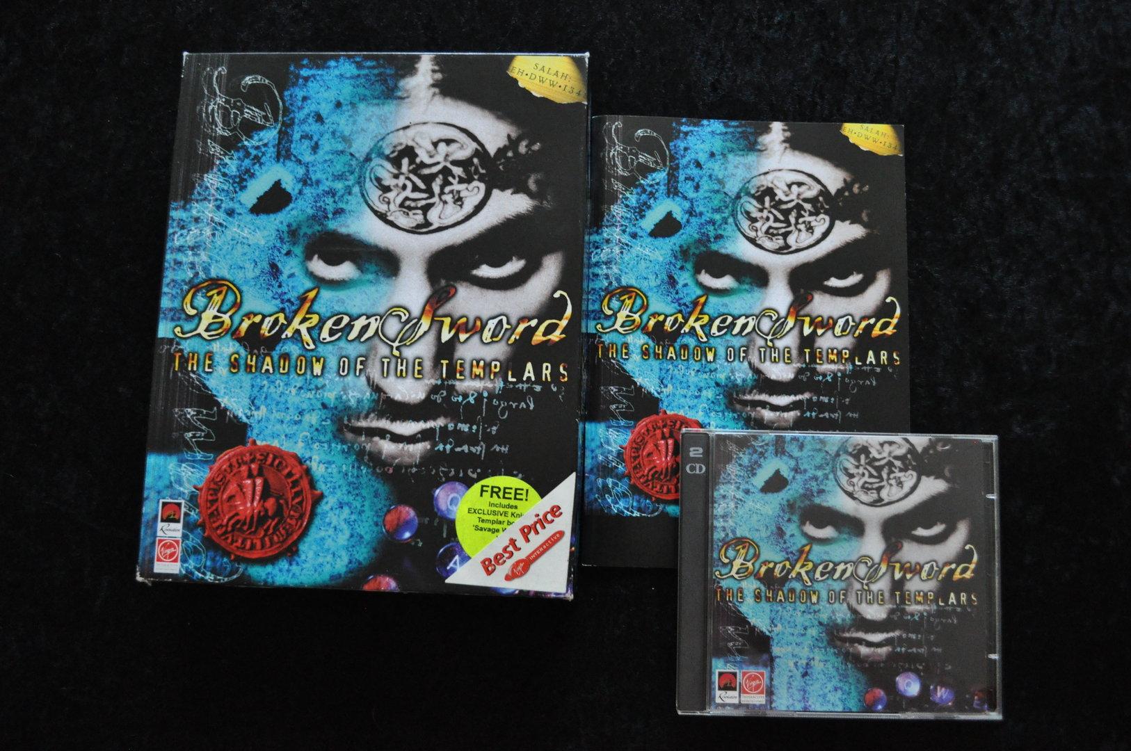 Broken Sword The Shadow Of The Templars Big Box PC Game