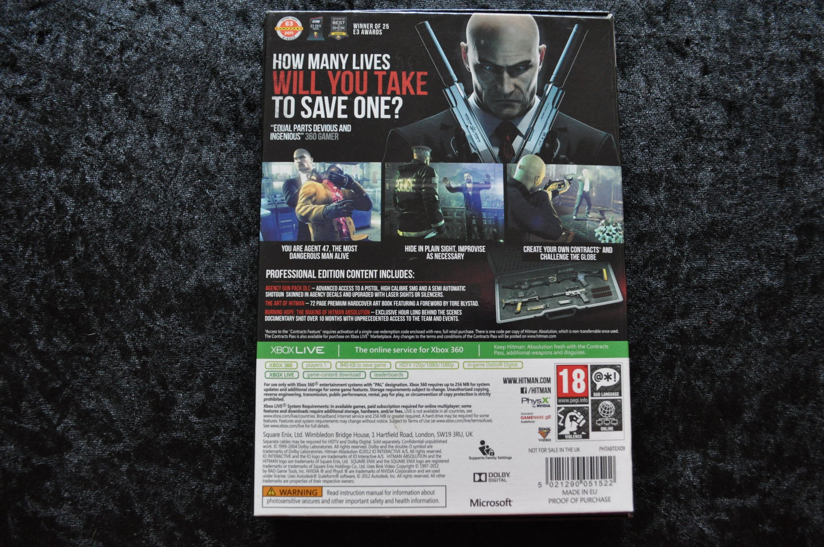 hitman absolution professional edition xbox 360