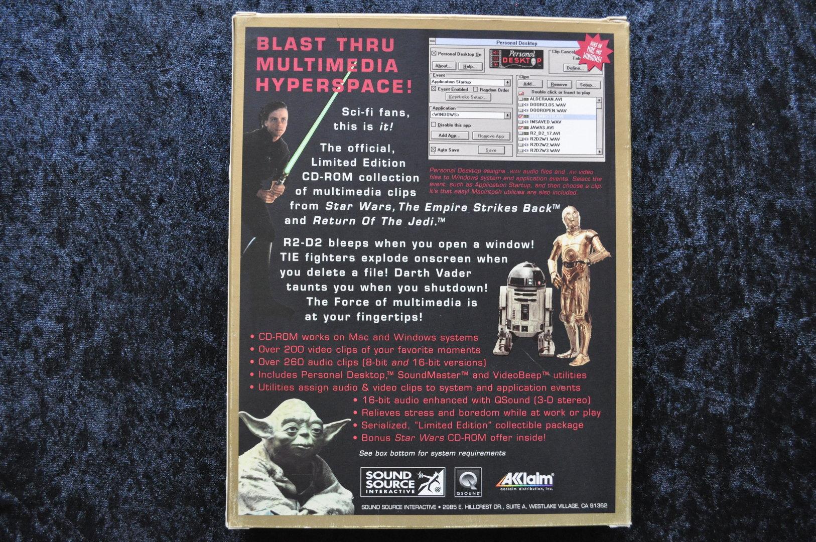 Star Wars Trilogy CD Rom Limited Edition Nr 17157 Big Box Pc Game