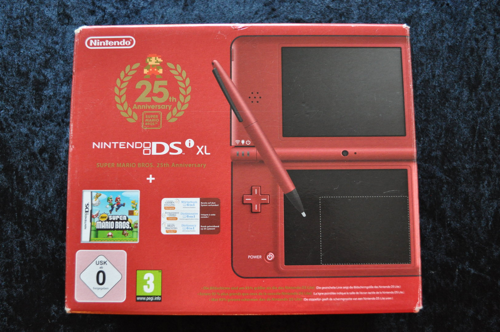 Nintendo DSi XL Super Mario Bros 25th Anniversary With