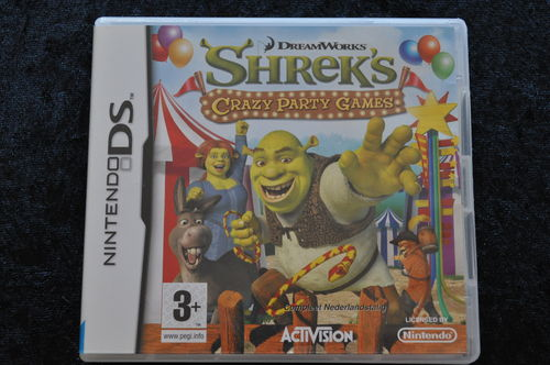 Shrek's Crazy Party Games Nintendo DS Geen Manual
