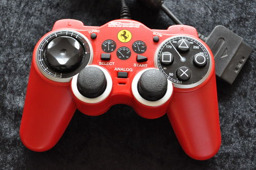 Thrustmaster Ferrari Red Controller Playstation 1 PS1