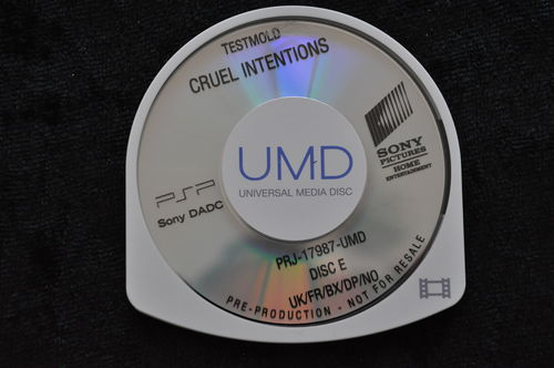 Cruel Intentions UMD TESTMOLD Sony PSP