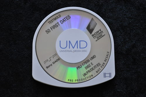 50 First Dates UMD TESTMOLD Sony PSP