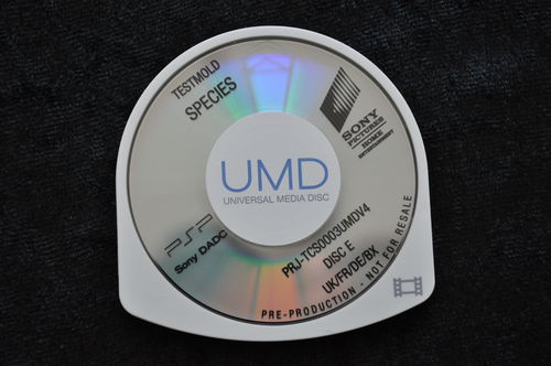 Species UMD TESTMOLD Sony PSP