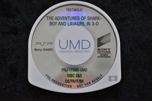 The Adventures Of Shark Boy And Lavagirl In 3D UMD TESTMOLD Sony PSP
