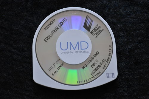 Evolution 2001 UMD TESTMOLD Sony PSP