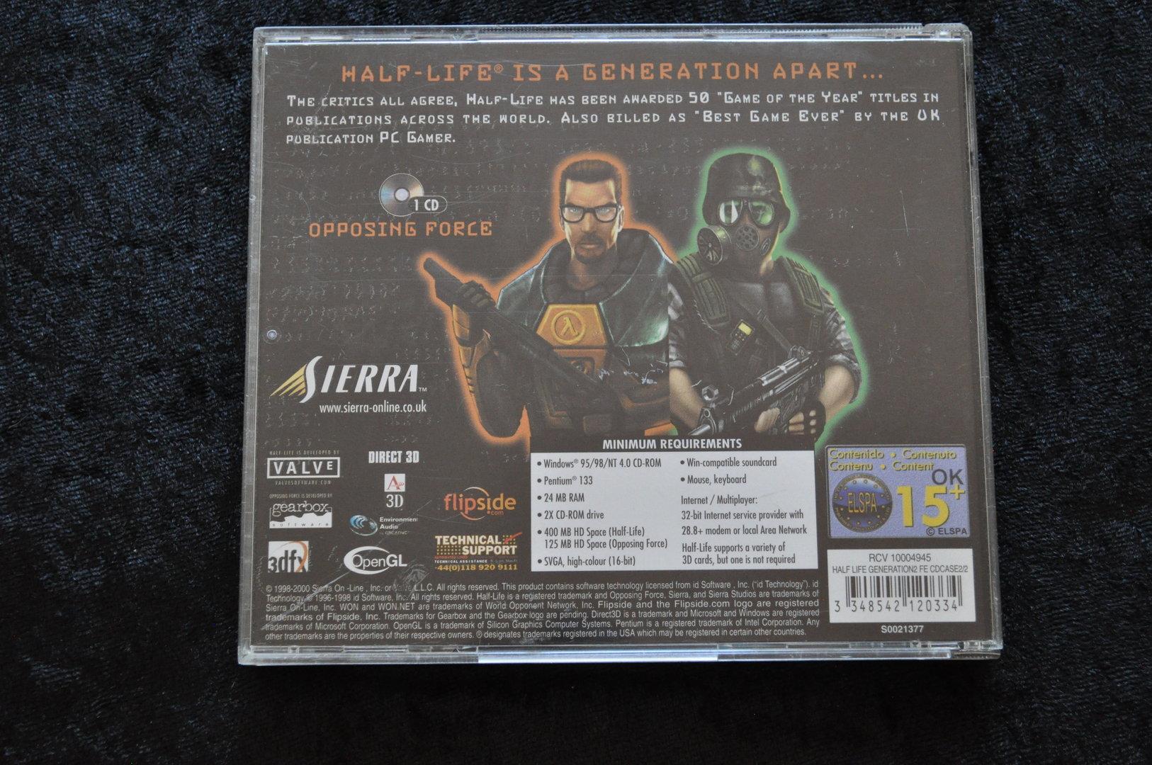 Half Life Generation Opposing Force PC Game - Retrogameking