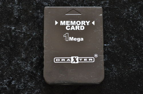 Memory Card 1 Mega Draxter Zwart Playstation 1 PS1