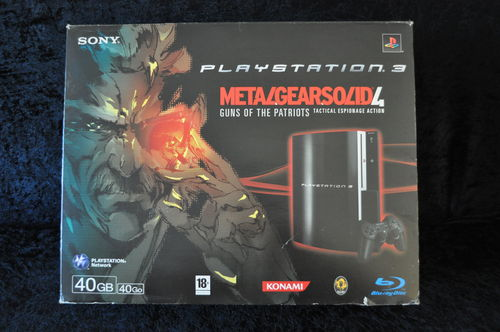 Playstation 3 PS3 40 GB Metal Gear Solid 4 Guns of the Patriots Editie