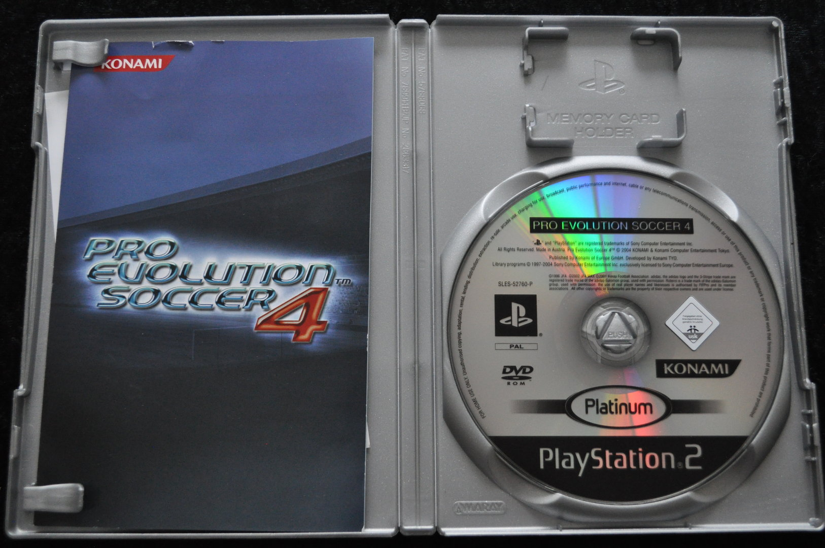 Pro Evolution Soccer 4 Playstation 2 PS2 Platinum