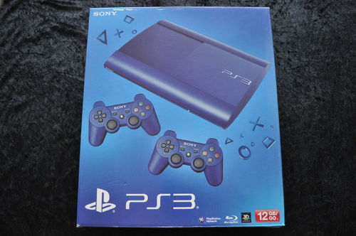 Playstation 3/PS3 12GB Super Slim Aqua Blue Console Boxed