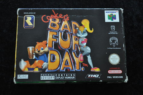 Conker's Bad Fur Day Nintendo 64 N64 Boxed PAL