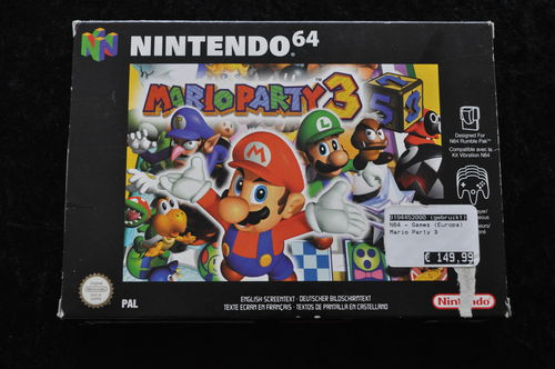 Mario Party 3 Nintendo 64 N64 Boxed PAL