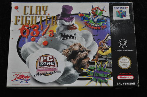 Clay Fighter 63 1/3 Nintendo 64 N64 Boxed PAL