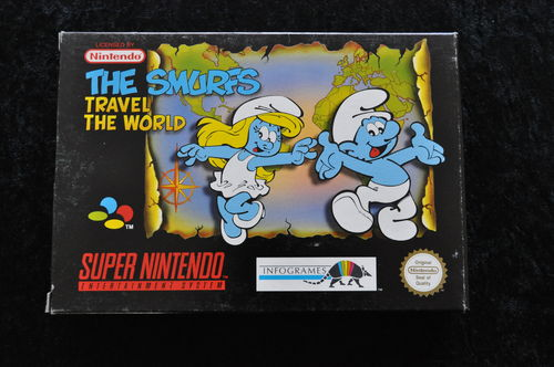The Smurfs Travel The World Nintendo Snes PAL Boxed