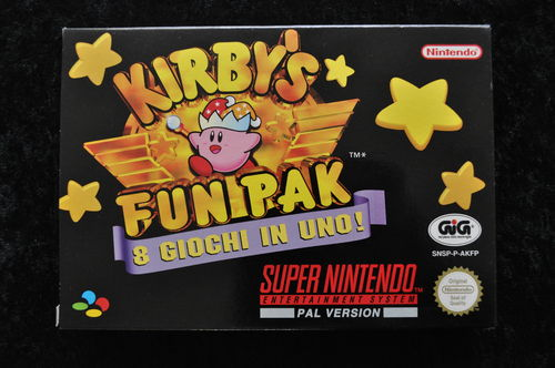 Kirby's Fun Pack 8 Giochi In Uno Nintendo Snes PAL Boxed Mint