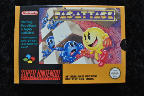 Pac Attack Nintendo Snes PAL Boxed Mint