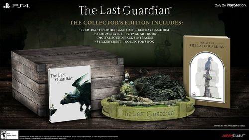 The Last Guardian Collector's Edition PlayStation 4 PS4 Limited Edition New