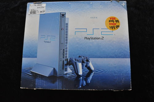 Playstation 2 Console Aqua Blue Boxed