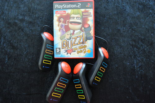 BUZZ The Music Quiz + BUZZERS New Playstation 2 PS2