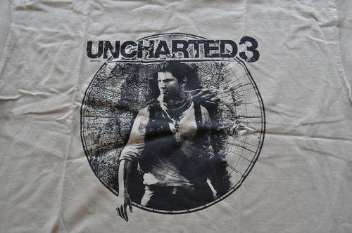 Uncharted 3 Contest Playstation T-Shirt Size L NEW