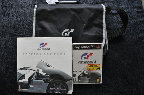 Gran Turismo Bag + Book +Gran turismo 4 Playstation 2 Game
