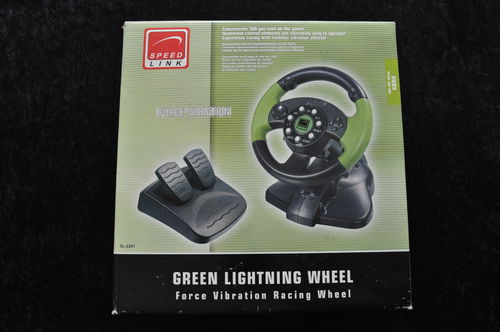 Speed Link Green Lightning Wheel XBOX Boxed