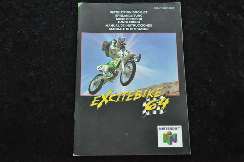 Excitebike 64 Nintendo 64 N64 manual