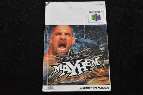 WCW Mayhem Nintendo 64 N64 manual