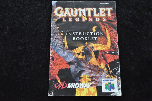 Gauntlet Legends Nintendo 64 N64 manual