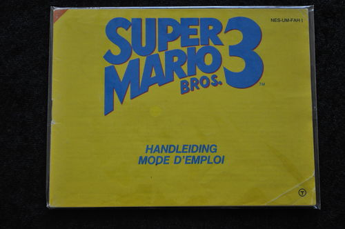 Super Mario Bros 3 Nintendo NES Manual